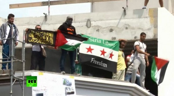 Paris pro-gaza protest_agitators